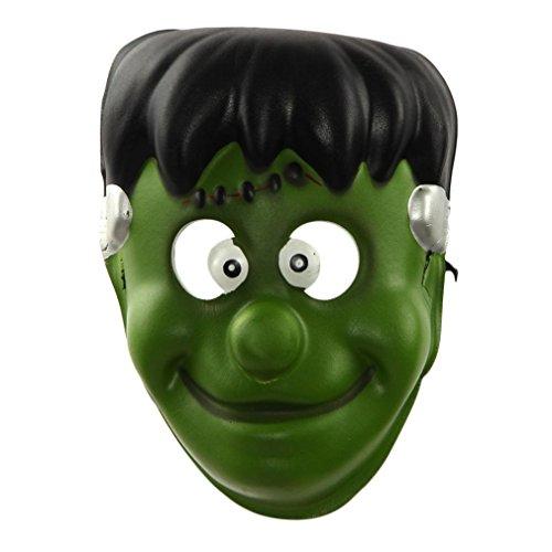 [Gillberry Halloween Funny Diversity Fancy Ball Mask (Green)] (Jigsaw Costume Face Paint)