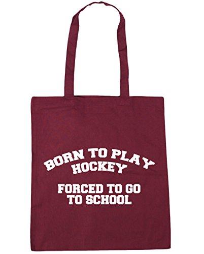 Weinrot Strandtasche 10 gehen Einkaufstasche Born One zu liter schule Damen size to gezwungen x38cm Fitnessstudio 42cm hockey HippoWarehouse play adqxwSvgg