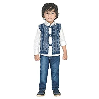 931ed11a6 Dotson Party Wear Boys Suit for Kids - Full Sleeve White Shirt with ...