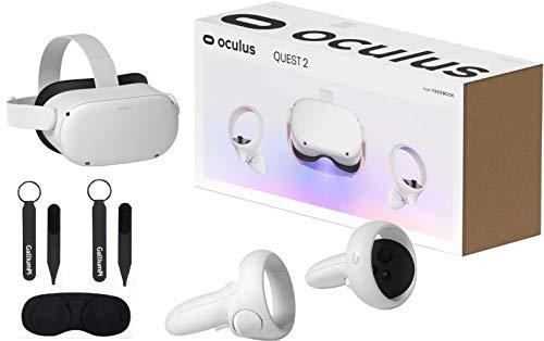 Oculus Quest 2 - Auriculares VR de 256 GB más nuevos - Auriculares avanzados para juegos de realidad virtual todo en uno con accesorios de cubierta protectora de lente con correa para nudillos GalliumPi