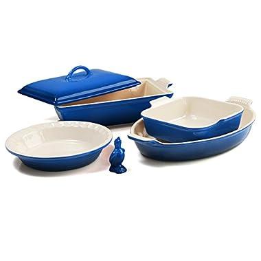 Le Creuset 6-Piece Stoneware Heritage Bakeware Set - Marseille Blue