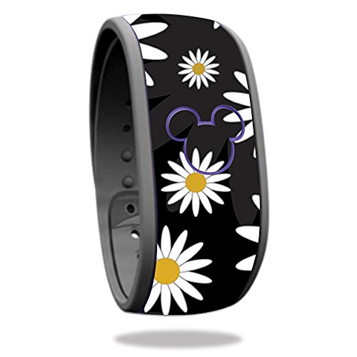 Skin For Disney Magic Band – Daisies | MightySkins Protective, Durable, and Unique Vinyl Decal wrap cover | Easy To Apply, Remove, and Change Styles | Made in the - Beach Palm Fit West U