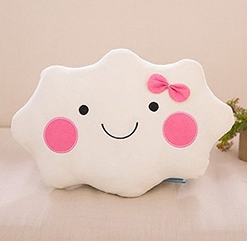 Grocery House Cute Smiley Face Cloud Cushion (Girl) -
