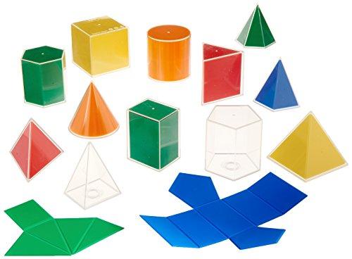 Learning Advantage 21347 8 cm 2D/3D Geometric Solids Set (Pack of - Pentagonal Shape