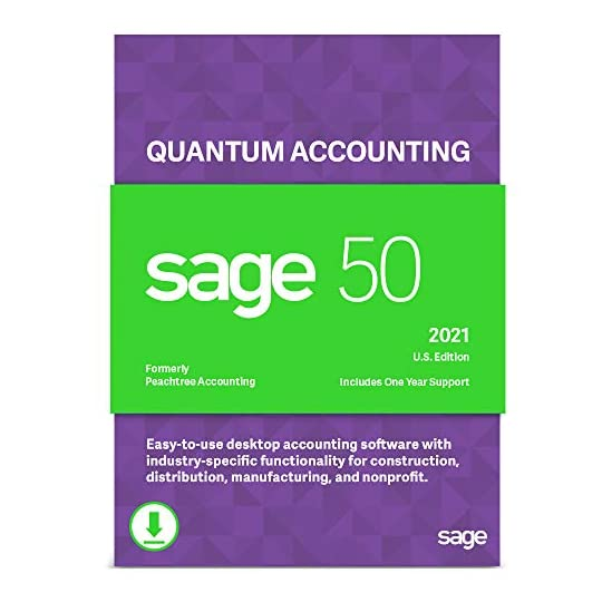 Sage 50 Quantum Accounting 2021 U.S. 1-User Accounting Software [PC Download]