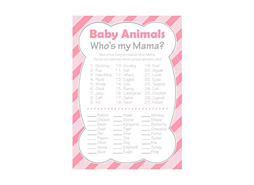 graphic about Baby Animal Match Game Printable identify : Kid Shower Boy or girl Pets Recreation, Whos My Mama