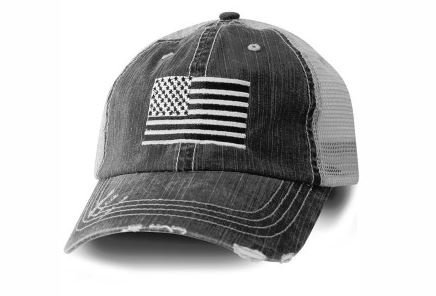 (Honor Country USA American Flag Baseball Cap Black)