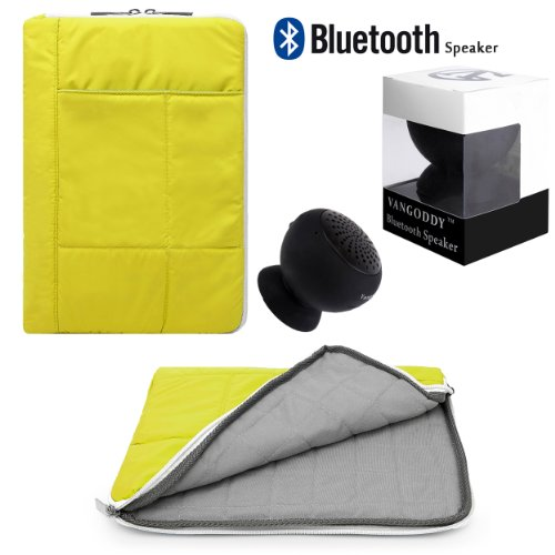S100 Bluetooth (Vangoddy Pillow Lightweight Carrying Sleeve For Microsoft Surface Pro 2 10.6 / Monster M 10 / MSI Primo 9.7 /WindPad 10.1 + Bluetooth)