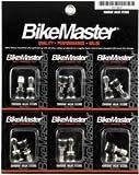BikeMaster Chrome Tubeless Valve Stem - Pair/Chrome