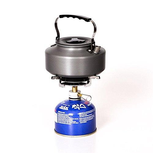 sxtspo ultraligero portátil al aire libre Picnic quemador de gas plegable camping Mini Acero Estufa caso para camping, al aire libre, Trekking y senderismo, ...