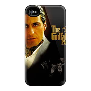 NataliaKrause Iphone 4/4s Protective Hard Phone Cover Allow Personal Design Colorful The Godfather Image [yPN1684FxUA]