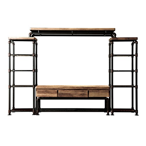 Price comparison product image HOMES: Inside + Out IDF-5913-4PC Michigan TV Stand Set