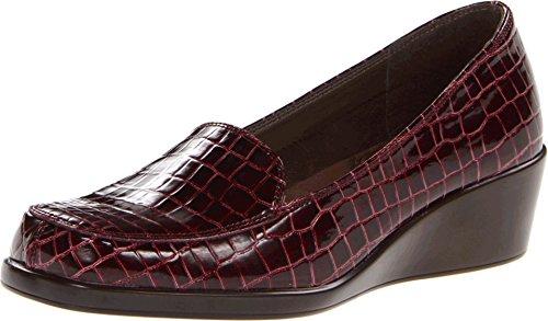 Aerosoles Final Exam Womens Wedge Shoes Brown Croco 6.5
