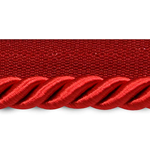 3/8 Lip Twisted Cord Trim (Hilda 3/8in Twisted Lip Cord Trim Red)