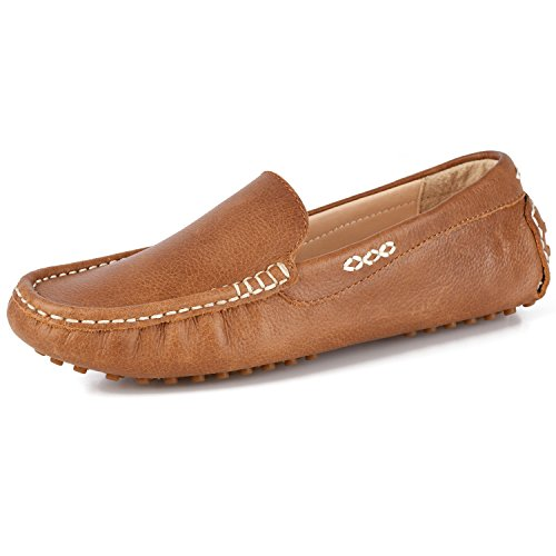 Women's Driving Shoes Flat Leather Shoes Penny Loafers Slip-On Boat Shoes Women Moccasin Flats(7 B(M) US)