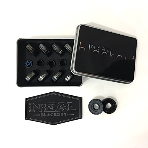 Neal Precision Ceramic Skate Bearings 608rs - Skateboard - Longboard - Inline - Scooter. The Best Bearings Guaranteed. (Black/Ceramic, 8 Pcs) by Neal Bearings (Image #6)