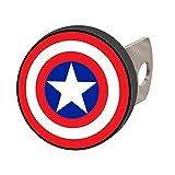 Plasticolor 002285R01 Marvel Captain America Hitch Cover, 1 Pack