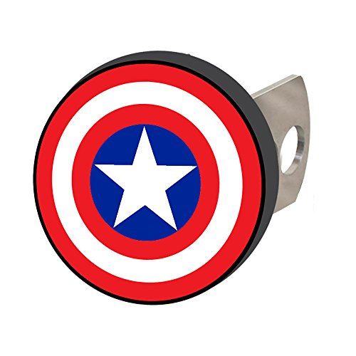 For Sale! Plasticolor 002285R01 Marvel Captain America Hitch Cover, 1 Pack