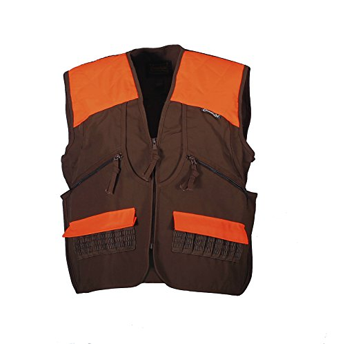Gamehide Switchgrass Upland Field Bird Hunting Vest (Chestnut Brown/Orange, X-Large)