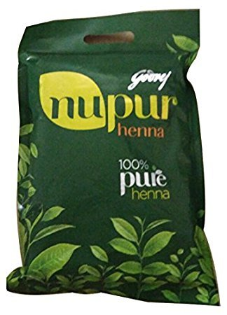 Nupur Godrej Mehendi Henna Powder 9 Herbs Blend, 120-grams(2 Pack)