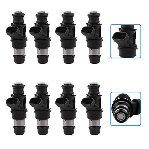 cciyu Injectors, 4 Hole Fuel Injectors Set fit for Chevy Silverado Avalanche Express,Cadillac Escalade ESV EXT,GMC Sierra Savana Yukon XL 1500 2500,Hummer H2 Compatible with 17113553 8 Pieces ()