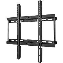 Happyjoy Ultra Slim TV Wall Mount Bracket for 23-55 Inch Flat LCD LED Plasma HDTV Smart TV, Max VESA 400x400mm, Bubble Level Included