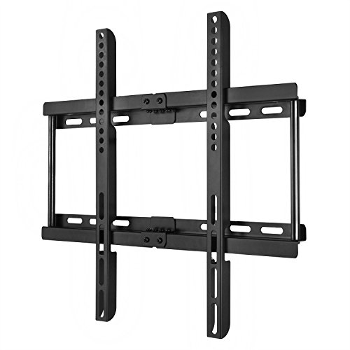 Happyjoy Ultra Slim TV Wall Mount Bracket for 23-55 Inch Flat LCD LED Plasma HDTV Smart TV, Max VESA 400x400mm, Bubble Level Included