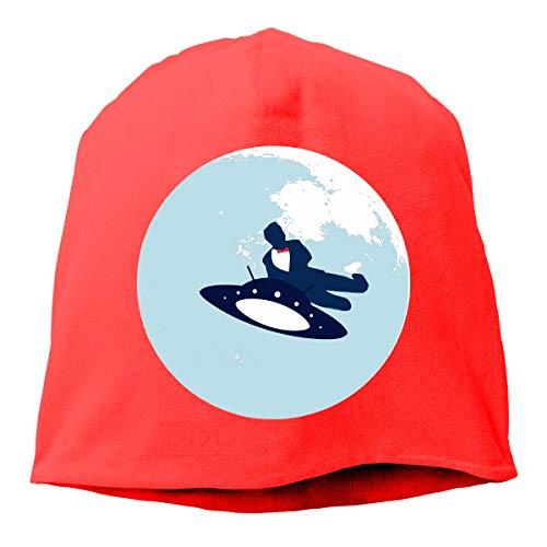 Jump The Moon Unisex Skull Cap Teen Running Beanie Fits Under Helmets Outdoor Red