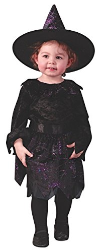 (Witch Spiderweb Glitter Toddler Costume - Toddler Large)
