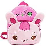 Cilefo Kids Plush Backpack 3D Cute Zoo Cartoon Pre School Children Toddler Sidekick Bags (Rabbit)