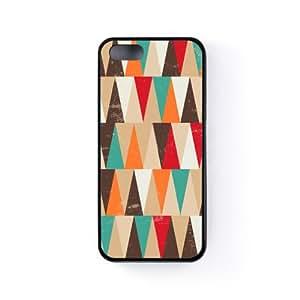 Grunge Geometrical Triangle in Multiples Funda Protectora Snap-On en Silicona Negra para Apple® iPhone 5 / 5s de UltraCases + Se incluye un protector de pantalla transparente GRATIS