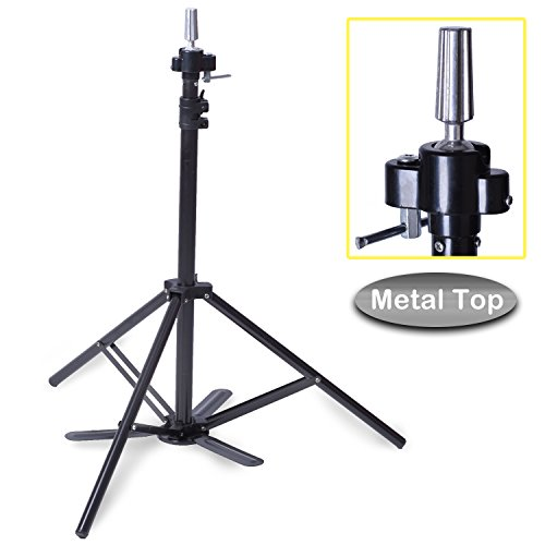 Smilco Enhanced Adjustable Mannequin Head Tripod Stand with Pedal Cosmetology Head Tripod (Updated version)