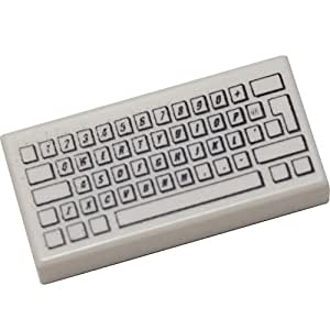 LEGO Bulk Parts: Keyboard - Tile 1 x 2 with Computer Keyboard (PACK OF 5)