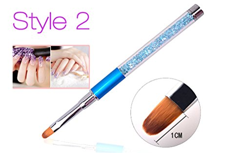 Nail Art Brush Pen Rhinestone Crystal Metal Acrylic Carving Gel Polish Decoration Painting Salon Liner Fin Tool Manicure Style2 by Transfer Rose