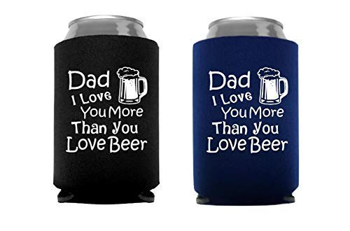 Funny Birthday Gift for Dad Idea from Kid Son Daughter Beer Can Bottle Holder - Set of 3 pieces
