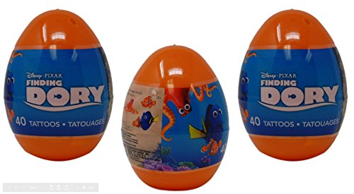 Prefilled Jumbo Easter Eggs with Tattoos, Finding Dory - Eas