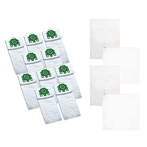 Think Crucial 10 Replacement for Miele U HEPA Style Cloth Bags & 4 Micro Filters, Compatible with Part # 07282050