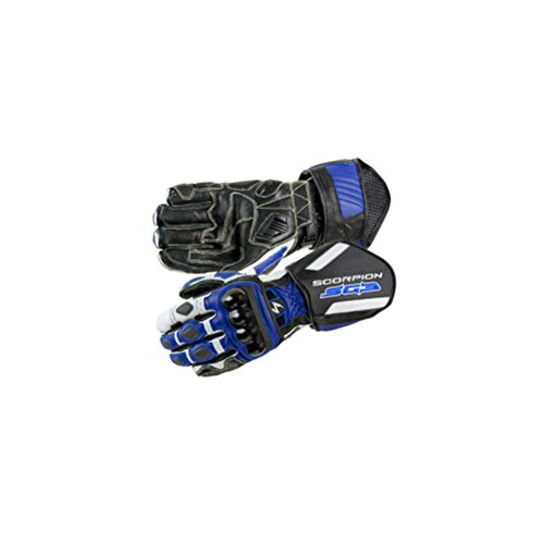 Scorpion SG3 Men's Leather On-Road Motorcycle Gloves - Blue/2X-Large