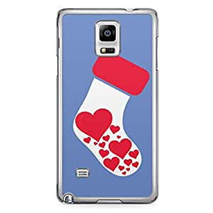 Socks Samsung Galaxy Note 4 Transparent Edge Case - Christmas Collection
