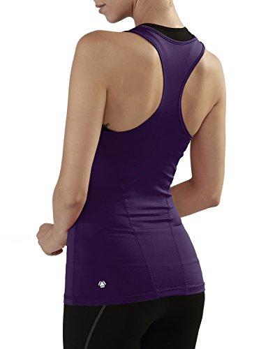 Yoga Reflex Women's Racerback Activewear Gym Sports Yoga Running Tank Top , (Reversible Tankini Top)