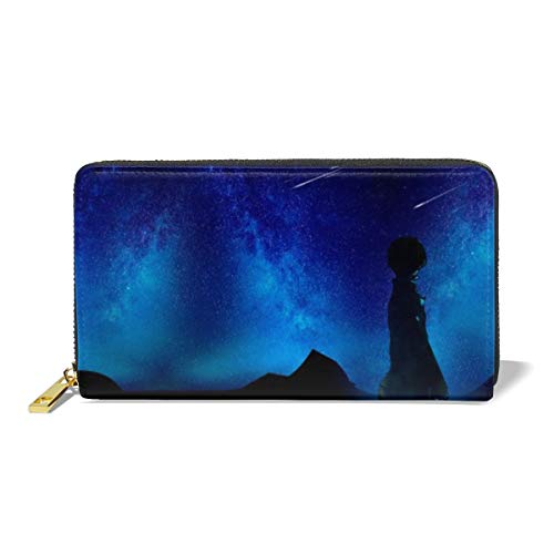 Beautiful Dream Summer Night Women's Zip Long Leather Wallet