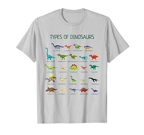 Types Of Dinosaurs T-Shirt Cute Dinosaur Tee