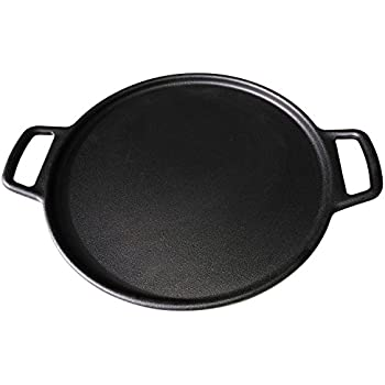ROYAL KASITE Preseasoned Cast Iron Pizza Pan,14.8-Inch