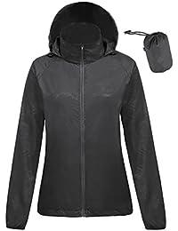 Women's Lightweight Windbreaker Jacket Anorak Quick Dry Outdoor Packable Hoody
