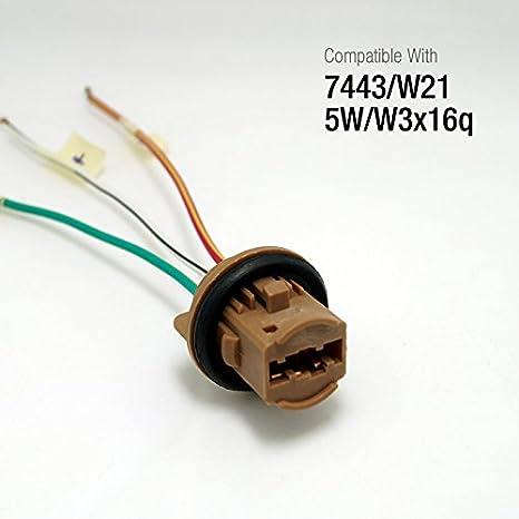Amazing Feeldo Car 7443 T20 W21 5W W3X16Q Led Bulbs Brake Signal Lights Wiring Database Ilarigelartorg