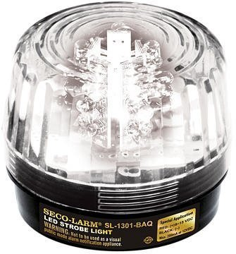 - SECO-LARM SL-126Q/C Clear Security Strobe Light by Alarm Center