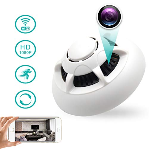 Spy Hidden Camera, WHDSWL WiFi Smoke Detector Camera, HD1080 Motion Detection Loop Recording Remotely View Security Nanny Cam Home Office Support iOS/Android/PC/Mac