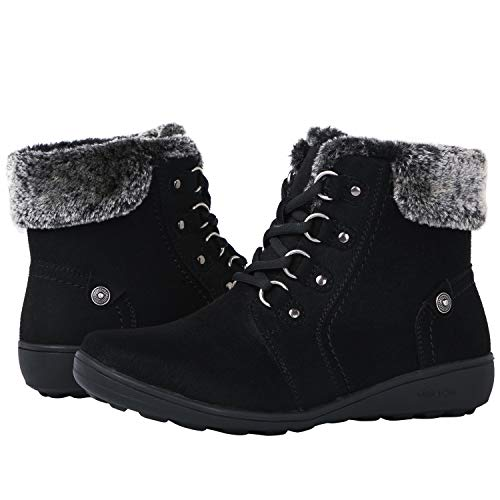 19 Black Winter Fashion Boots 7M ()