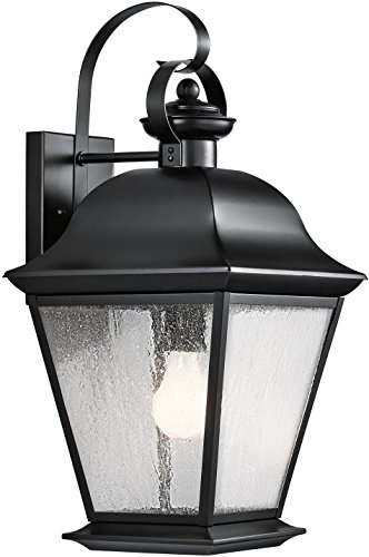 Kichler 9709BK Mount Vernon Outdoor Wall 1-Light, Black