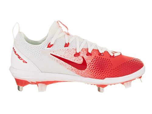 Nike Mens Maan Damp Ultrafly Elite Baseball Cleat Universiteit Rood / Wit